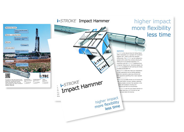 Advertising and Corporate brochures for I-Tec