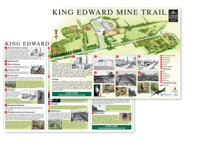 Trail leaflets and Corporate brochures for King Edward Mine