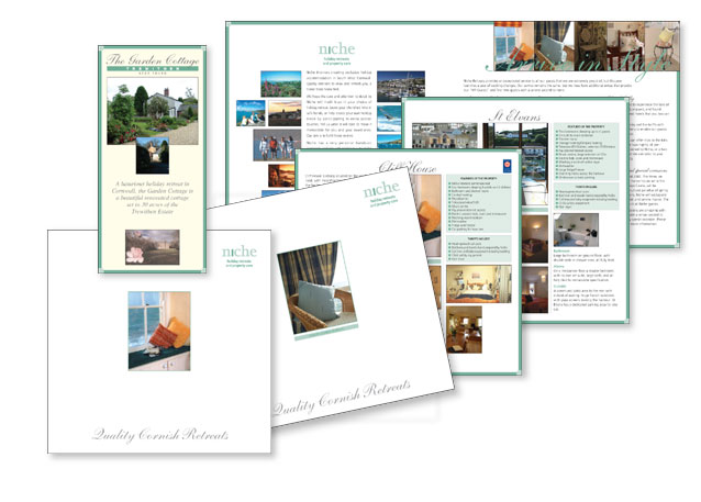 Samples of work for Niche Retreats